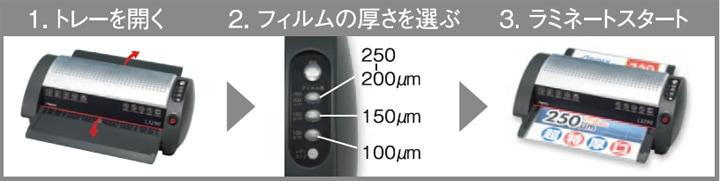 業務用ラミネーター Asmix L3290の使い方