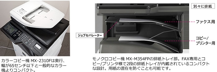 コンパクトなシャープコピー機イメージ