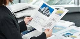 富士ゼロックスコピー機の印刷イメージ