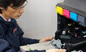 シャープ カラーコピー機(複合機)MX-2517FNの内部構造、耐久性のイメージ