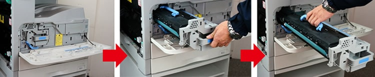 SateraMFモノクロコピー機のトナー交換手順