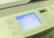 中古印刷機のデータ消去の様子