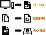 コピー機の機能「PC-FAX機能」「自動両面読取印刷」「ドキュメントボックス」