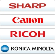 中古コピー機の保守サービス提供可能メーカー シャープ、キヤノン、リコー、京セラミタ、コニカミノルタ