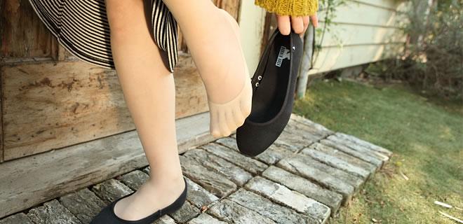 絹フットカバー 5本指靴下
