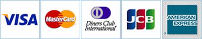 VISA、MASTER CARD、DINERS CLUB、JCB、AMERIKAN EXPRESS