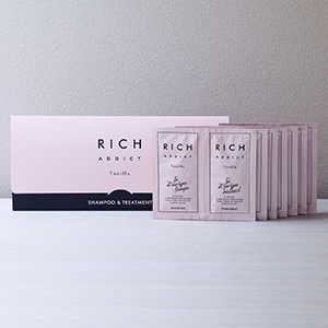 RICH ADDICT シャンプー&トリートメント トラベルセット(7日分)写真