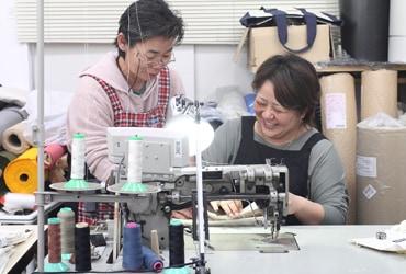 沖縄の伝統的な縫製技術で