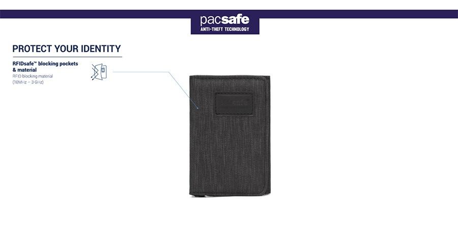 pacsafe パックセーフ RFIDトライフォールドウォレット