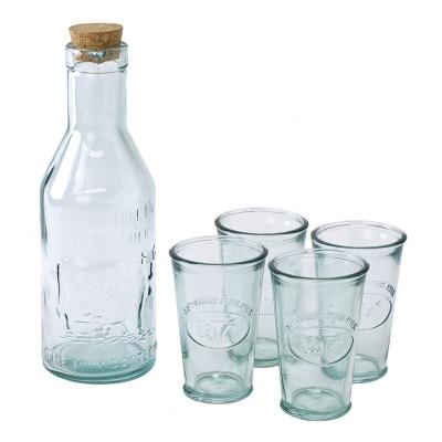 AUTHENTIC GLASS コルク蓋ボトル&タンブラー