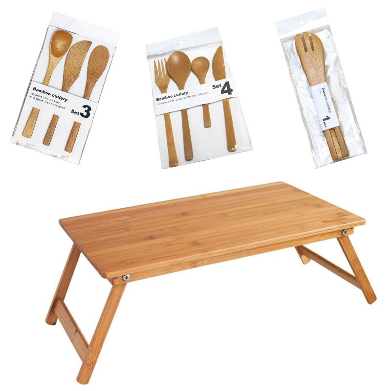 バンブーテーブル、カトラリー