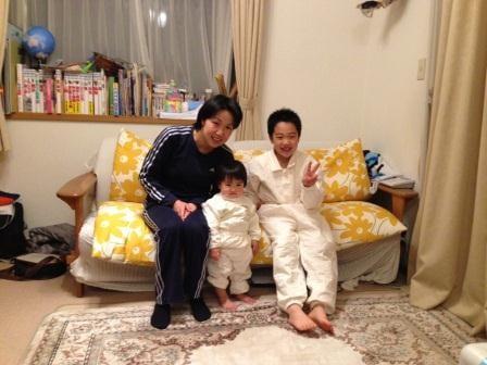 フルオーダー2点 パシーマパジャマを着て送っていただいたお写真