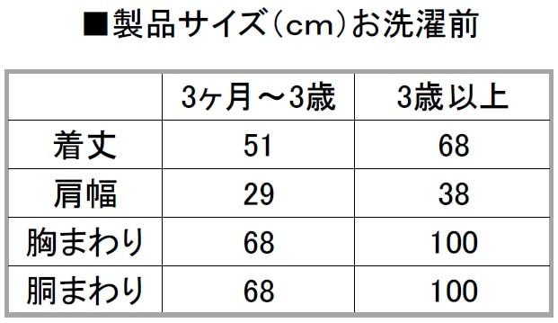 スリーパーサイズ表