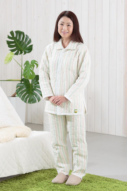 冬用パシーマパジャマ大人ストライプ柄 冬用パシーマパジャマ ストライプ柄 アトピーや敏感肌、睡眠にお悩みの方へ、アトピーパジャマ ぐっすり熟睡!男女共通デザイン