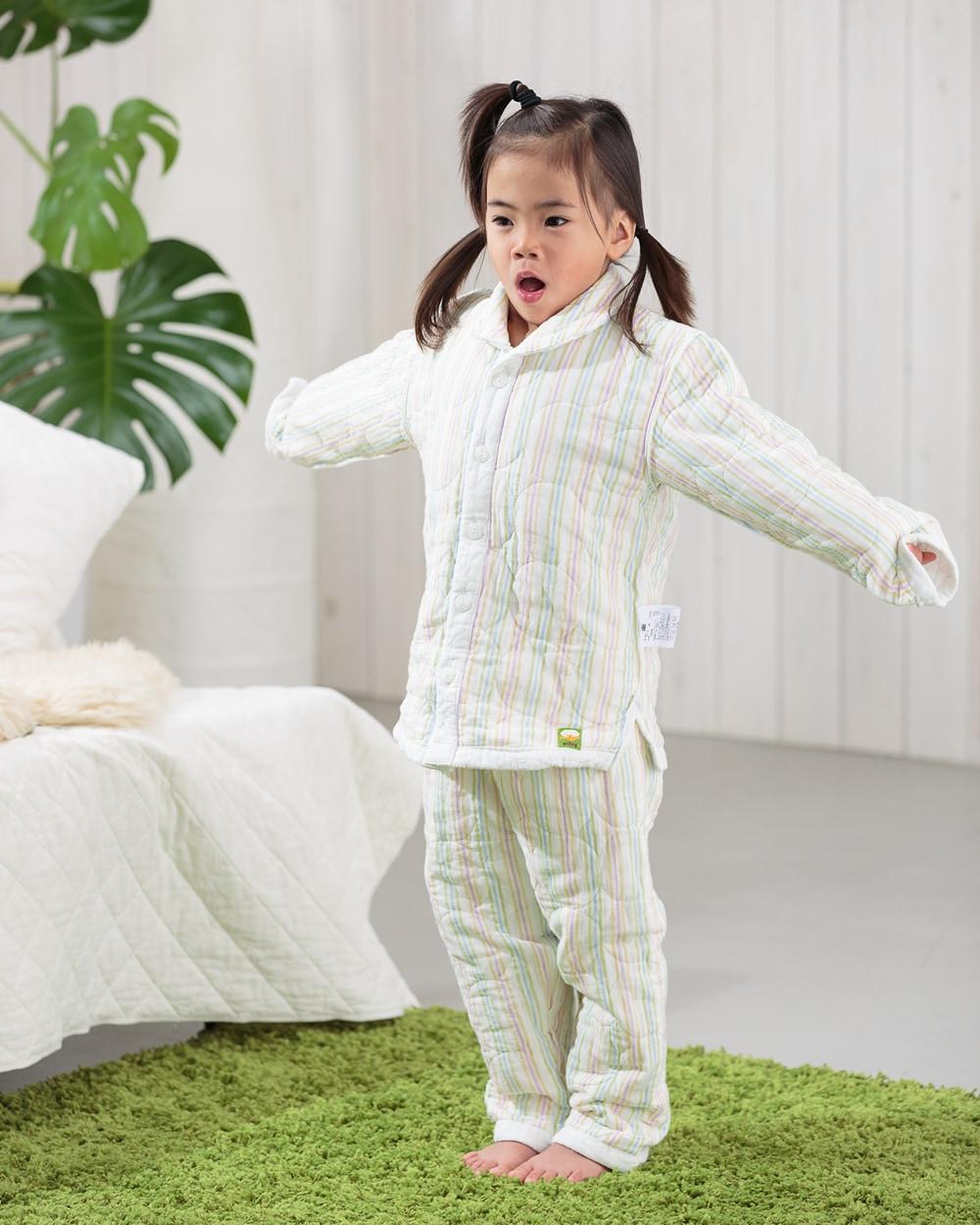 新作パシーマ ストライプ柄  冬パジャマ ベビー 子供 アトピーや敏感肌のお子様の為に作られたパシーマパジャマ ぐっすり熟睡!笑顔で元気!