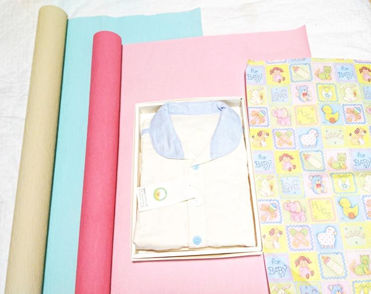 ラッピング包装紙 エコ紙 質感 和紙 リバーシブル