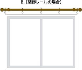 B. 【装飾レールの場合】