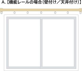 A.【機能レールの場合(壁付け/天井付け)】