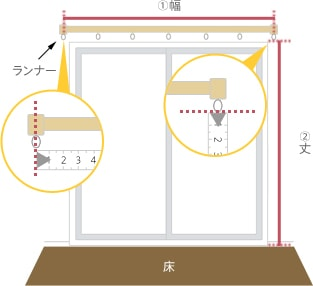 A-1.床まで窓がある『掃き出し窓』の場合