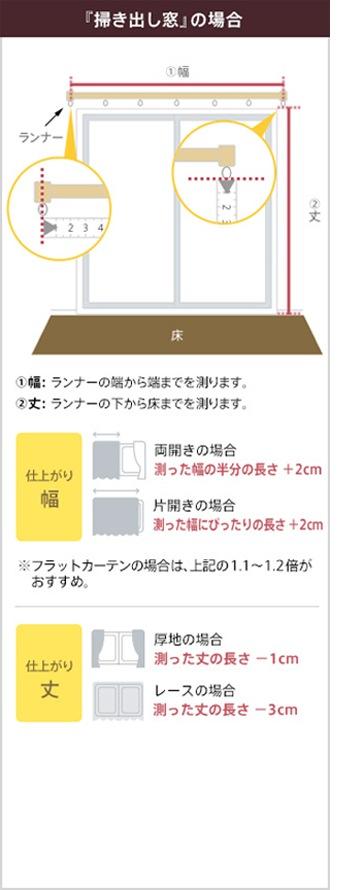 『掃き出し窓』の場合