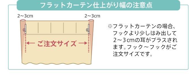 フラットカーテン仕上がり幅の注意点