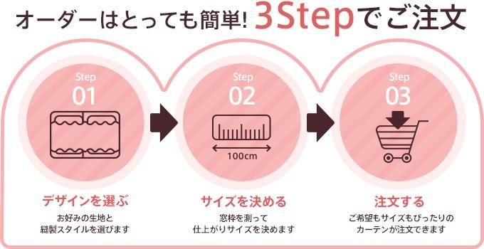 オーダーはとっても簡単!3Stepでご注文