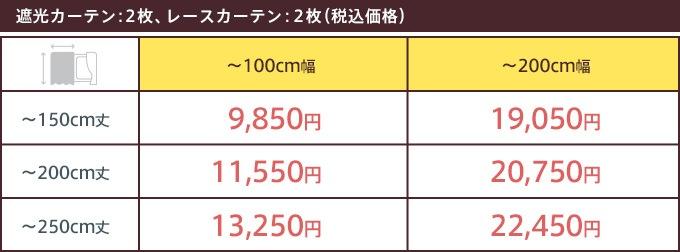 価格表(プレーン)