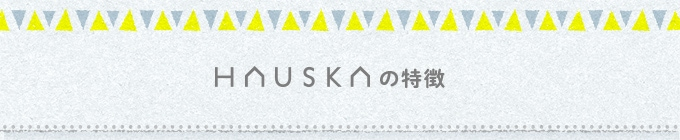 HAUSKAの特徴