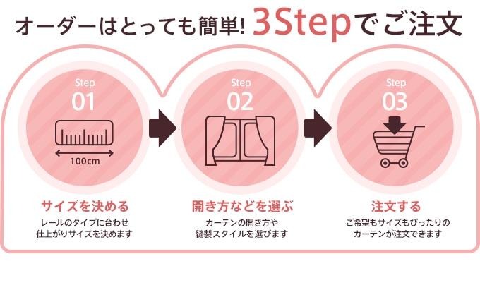 オーダーはとっても簡単。3つのステップでご注文!