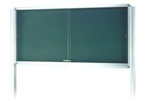 屋外掲示板 奥行き110mmタイプ 自立型(支柱横付け型