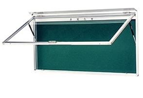 ハネ上げ式屋外掲示板 壁付け型