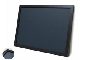 木目調枠付き チョーク黒板 黒色