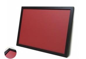 木目調枠付き チョーク黒板 赤色