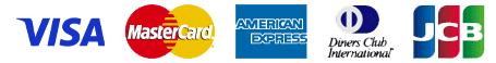 VISA、JCB、MasterCard、AMERICAN EXPRESS、Diners