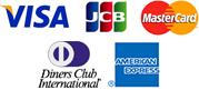 VISA、JCB、Master Cardが利用可能