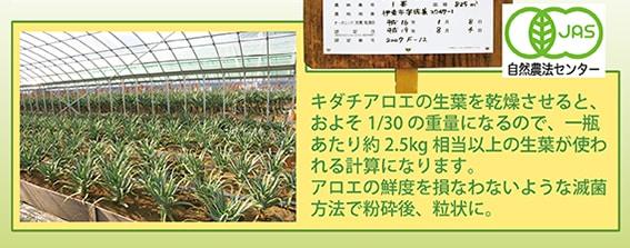 東京アロエ 有機シャイランA 商品説明4