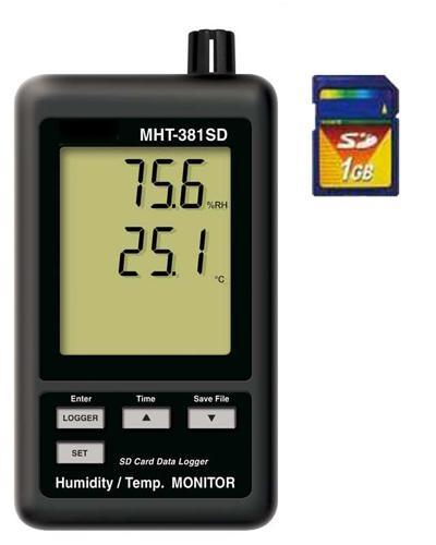 SDカードに記録できる優れもの!ロガー式湿温度計