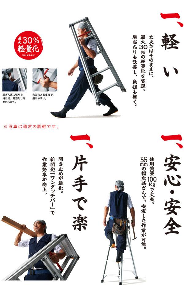 脚軽〜ASHIGARU〜ブラック!軽さと丈夫さを両立