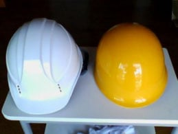 ヘルメット表面温度撮影 デジカメ画像