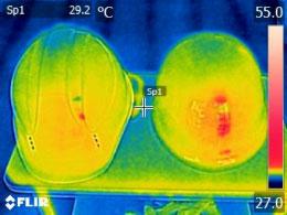 表面温度0分後の画像