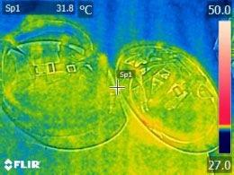 内部温度0分後の画像