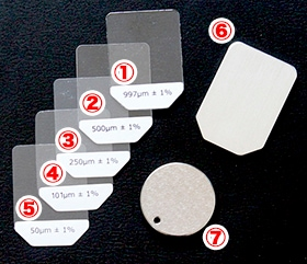塗装膜厚計 校正用標準片と校正用標準板