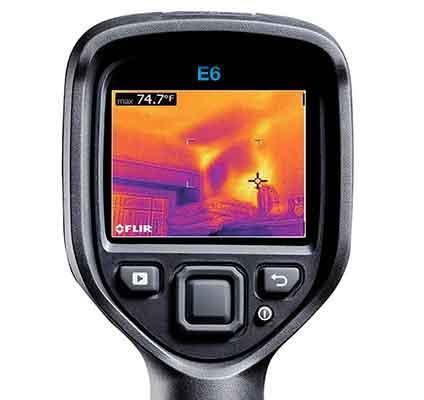 赤外線サーモグラフィー FLIR E5