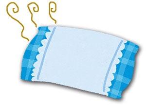 臭う枕のイラスト