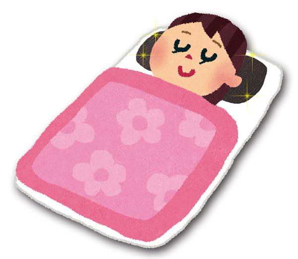 枕使用イメージイラスト