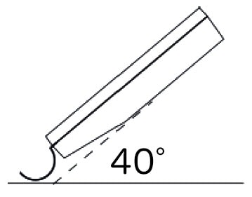 高周波ダンボール・紙水分計プロ60 使用の角度画像