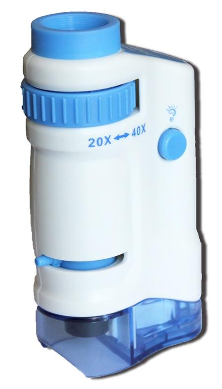 倍率20〜40倍のコンパクトタイプの高輝度LED顕微鏡