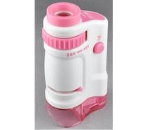 高輝度LEDハンディ顕微鏡本体(ピンク)