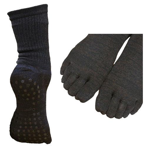 この冬、冷え症/しもやけ/あかぎれにサヨウナラ!! ブーツやコタツでの足の臭いにサヨウナラ!! 銅繊維靴下「足もとはいつも青春!」5本指タイプ!