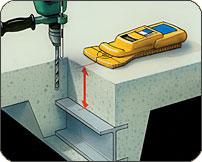 コンクリート探知機(鉄筋探査機)使用例1